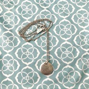 "Tiffany Alphabet Pendant Necklace ""H"""